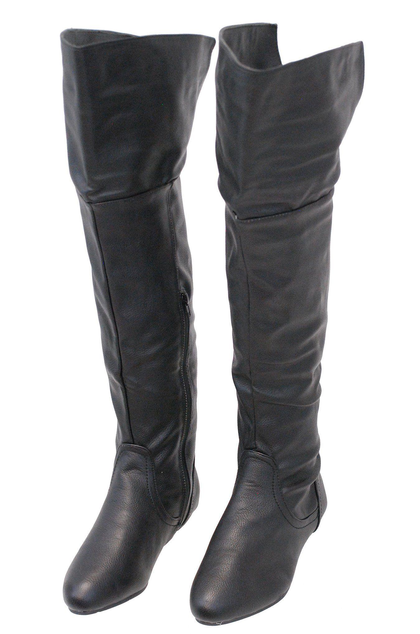 901a4fdf6830 ☆NEW☆ Women s Black Convertible Thigh High Boots w Flat Heel  BLC32800K   JaminLeather  Deals