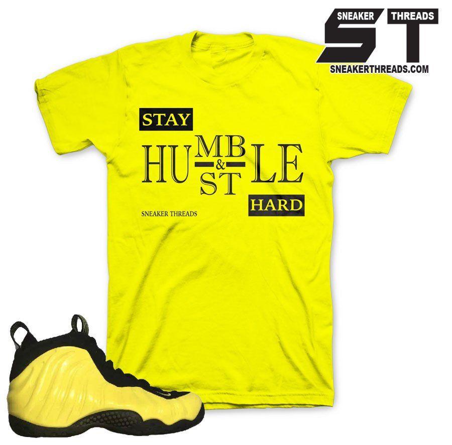 Foamposite Optic Yellow Stay Humble