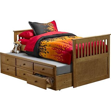 Mcleland Design Captain S Bed With Trundle Storage Drawers