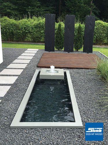 Gartenbrunnen alumento 60 300 100 mit architektonischem for Gartenteich edelstahl