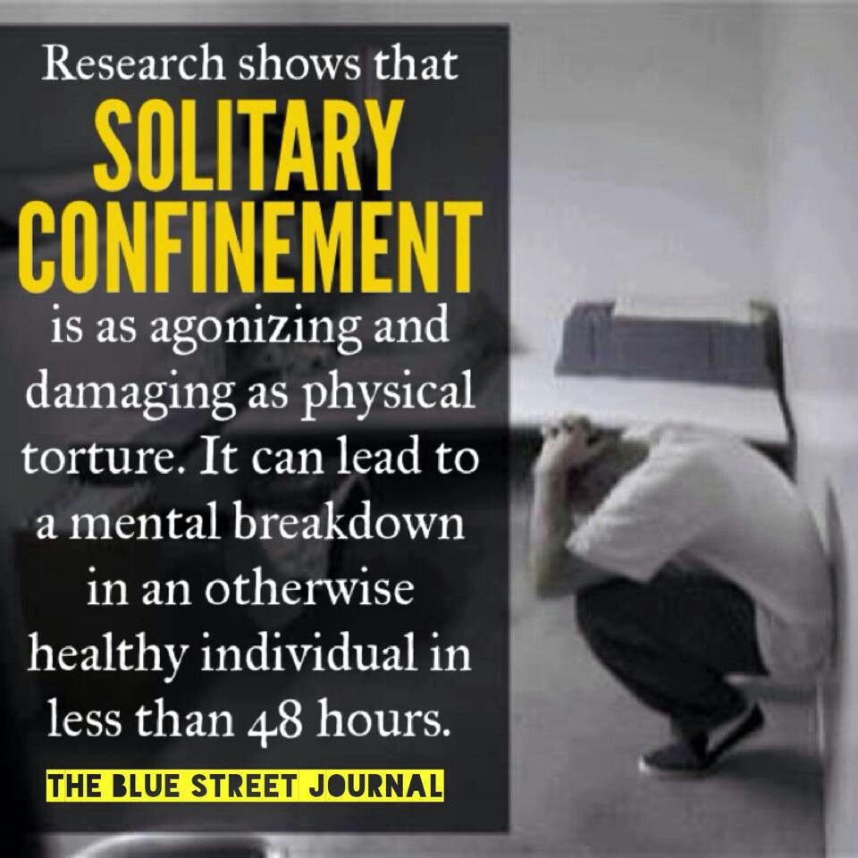 Stop Solitary Confinement! Liberalism Pinterest Solitary