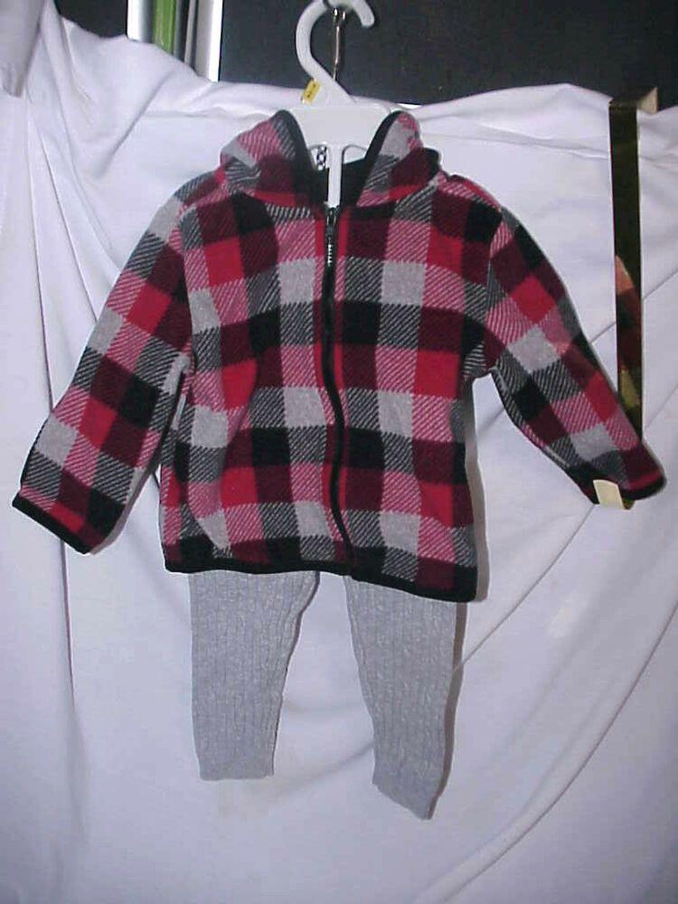 2ed359ff6 BABY GIRLS GARANIMALS 12M RED BLACK GRAY PLAID TOP W 18M GENUINE KIDS GRAY  PANTS #fashion #clothing #shoes #accessories #babytoddlerclothing ...