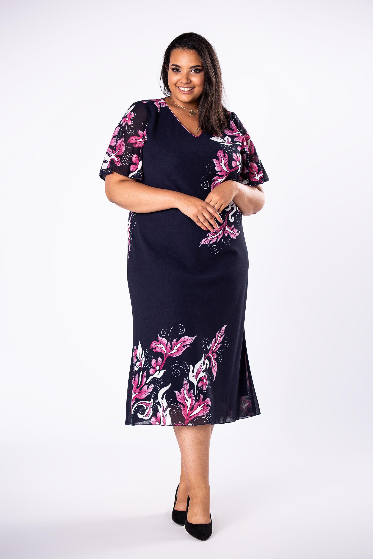 Elegancka Sukienka Xl Xxl Maxi Olivia In 2020 Shirt Dress Cold Shoulder Dress Tshirt Dress