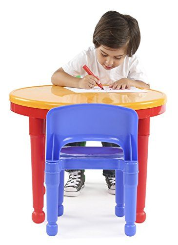 Tot Tutors Kids 2-in-1 Plastic LEGO-Compatible Activity Table and 2 ...