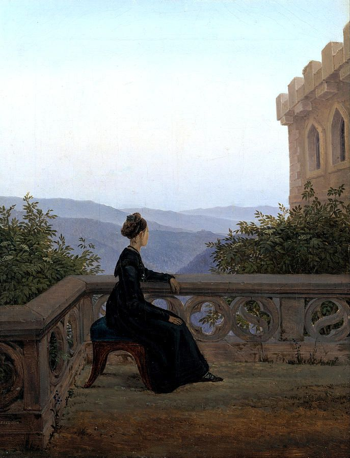 Woman On The Balcony by Carl Gustav Carus | Carl gustav carus ...