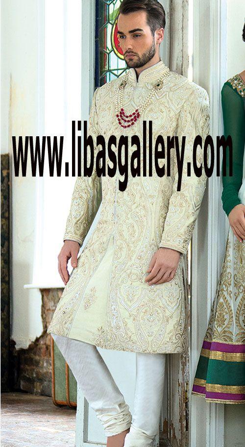 Buy Latest Wedding Sherwani Suit for Groom from Libas Gallery Store #Buythelatestmen'sSherwani #affordable #pricesofSherwani #ChooseSherwani #ElegantStyles #NaturalColors #suretoimpress #DresstoImpress #DulhaDinner #DulhaSlip #DulhaHappy #DulhaHappyMood #MoodofDulha #MoodofGroom #HeavyworkSherwani #SherwaniMood #SherwaniPicturesPakistan #SherwaniMagazine #SherwaniSuitMagazine #latestStylesofSherwani #TailormadeSherwani #SherwaniKeeper  #SaudiArabia #Saudia #Riyadh #jeddah #Makkah #madina…