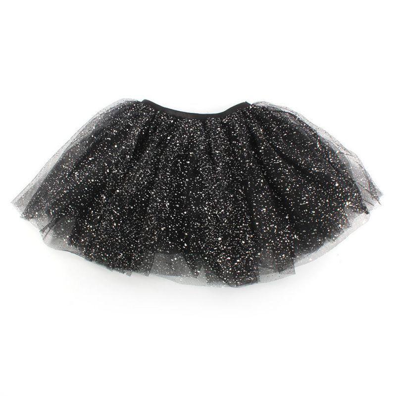 Kids Girls Party Princess Skirts Children Girl Bling Tulle Ballet Dancewear Kids Short Cake Skirt 2-7 Y