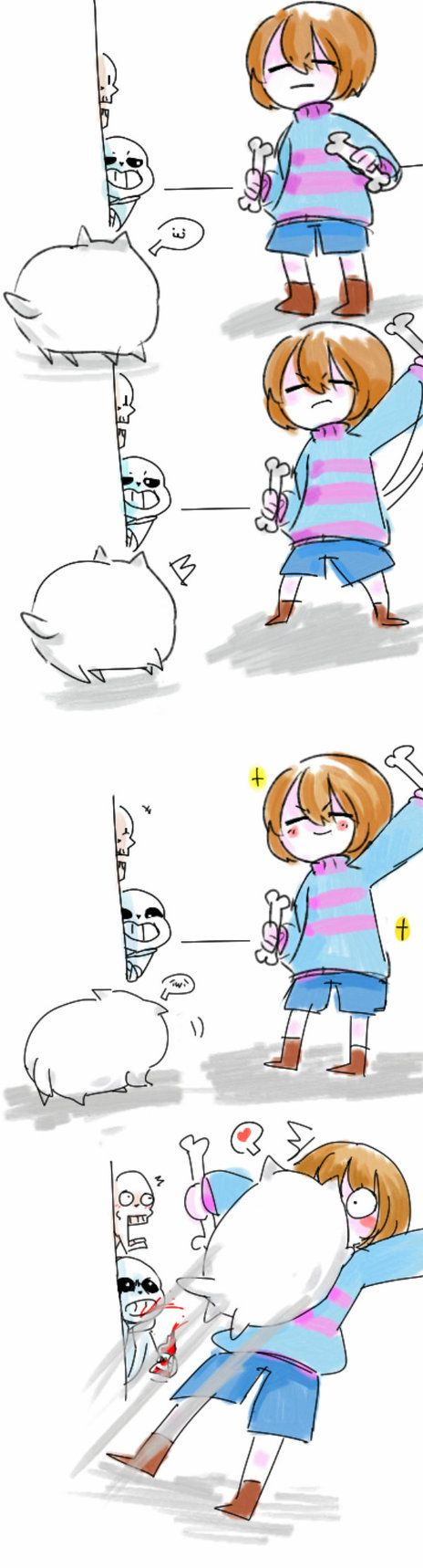 play with dog by huslu | Undertale | Pinterest | Plays, Dog and Frisk