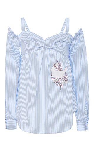 Kesar Off The Shoulder Patch Shirt by No. 21 | Moda Operandi