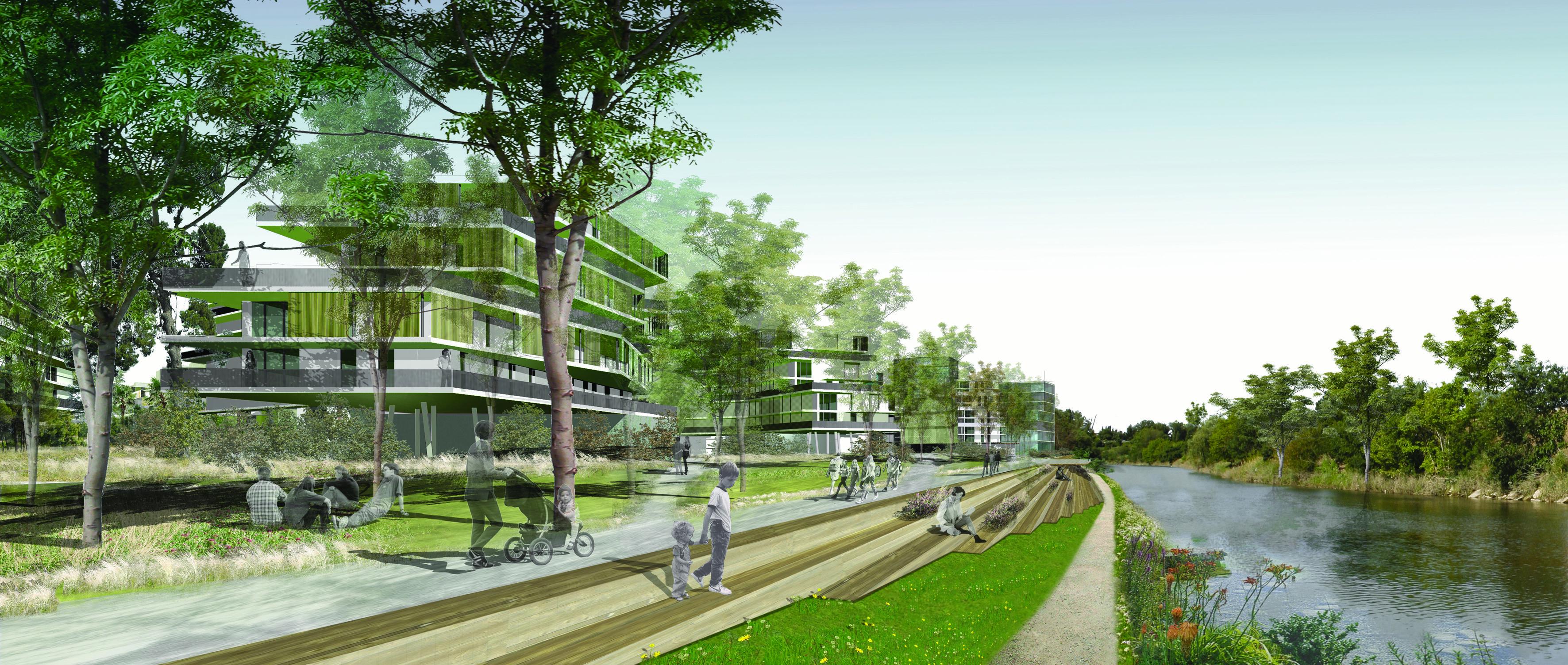 Port Marianne - Quartier Rive Gauche - perspective Pierre Tourre