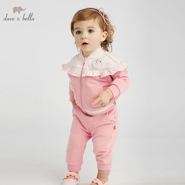 DBZ8929 dave bella spring baby girl fashion clothing sets girls lovely long  sleeve suits children 79340d3ea08