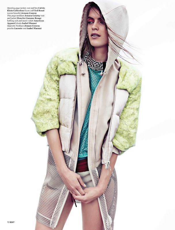 Mirte Maas Has a Sportswear Outing for Exit Magazine, Shot by Steven Pan #doactiveproducts #doputitingear
