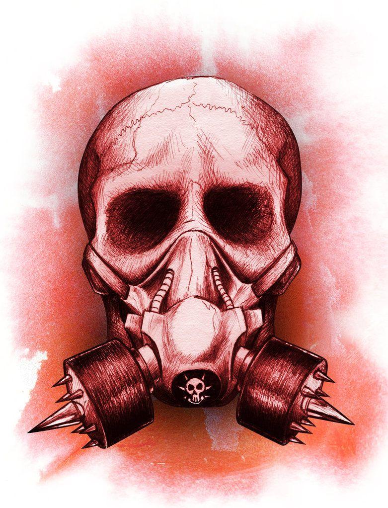 Gas mask skull by beanarts | Banshees Echo | Pinterest | Masking ...