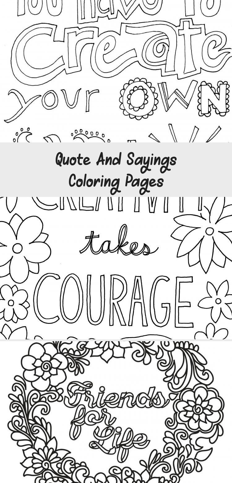 Quote And Sayings Coloring Pages Positive Education Quotes