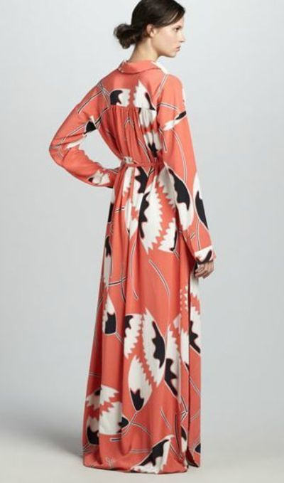 Gorgous DVF dress! Would be great for #hijab #hijabi #style #fashion