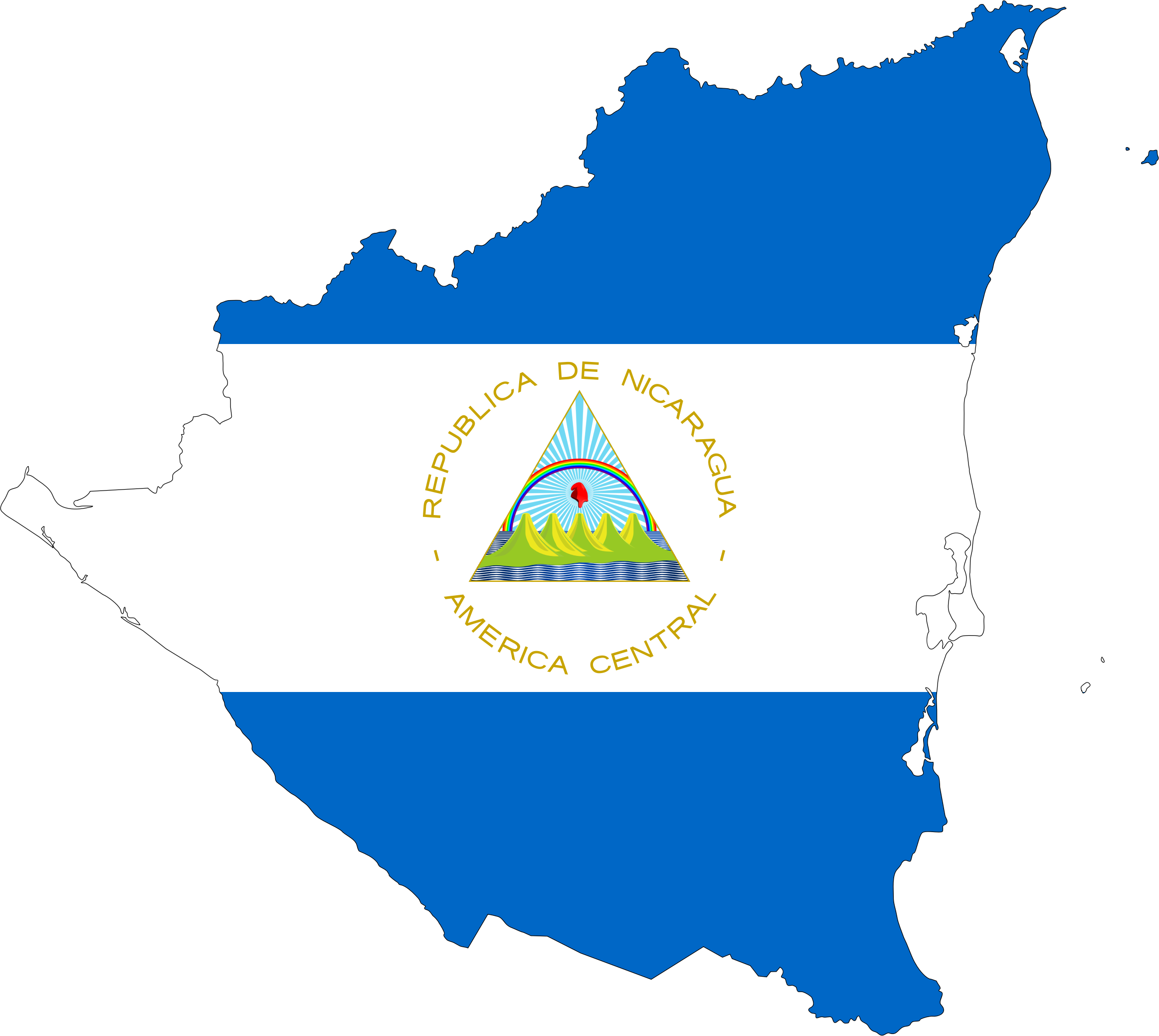 Nicaragua Map Vector Vector Free Map