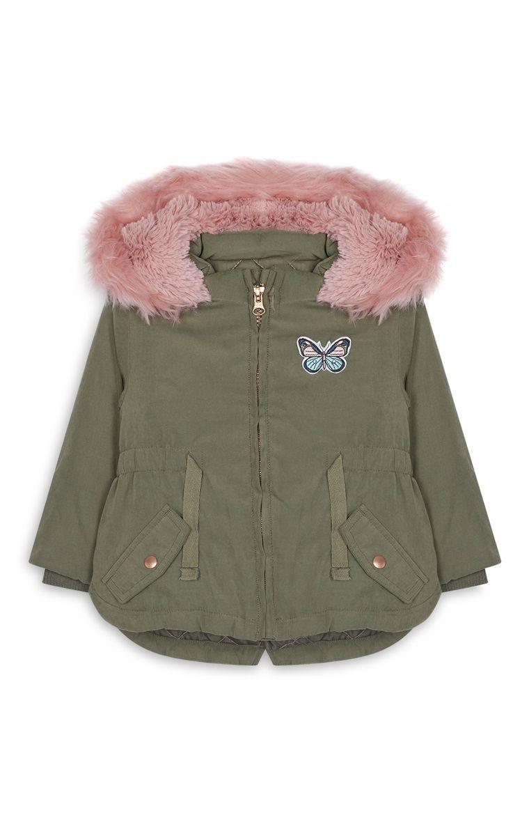 comprar online d86eb 38d1c Primark - Parka color caqui de bebé niña   moda invierno ...