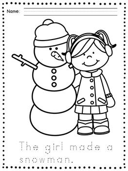 Winter Coloring Pages - Winter Handwriting Practice | Pinterest ...