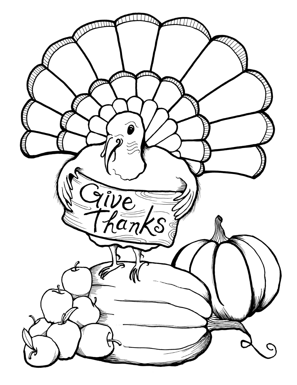 - Printable Thanksgiving Coloring Pages Turkey Coloring Pages