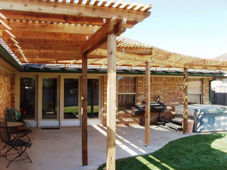 Decoration Amazing Handmade Wooden Pergola Roof Ideas