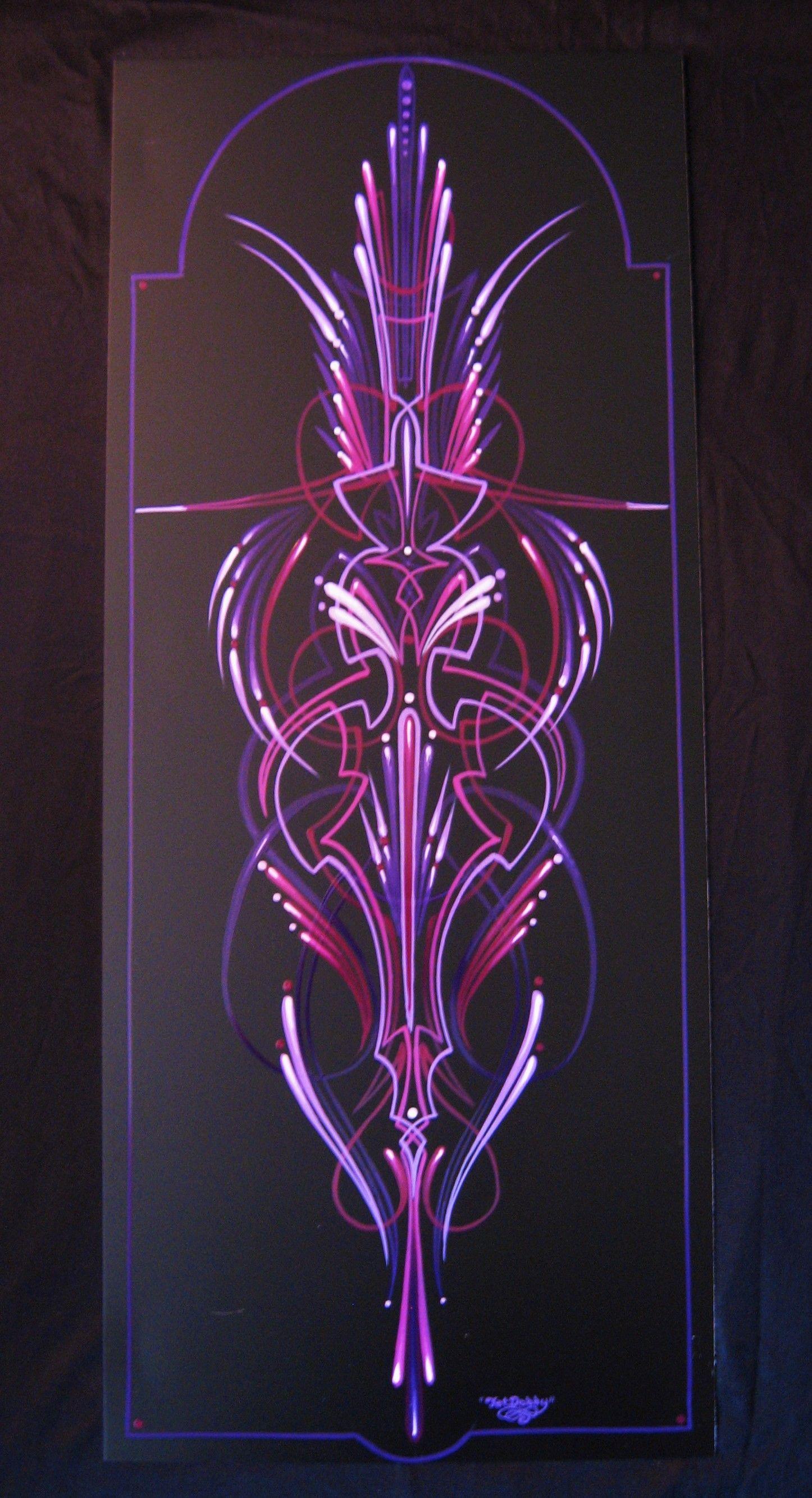 Purple Kraze My Latest Donut Boy Scroll Style Pinstriping Works Pinstriping Designs Pinstriping Pinstripe Art