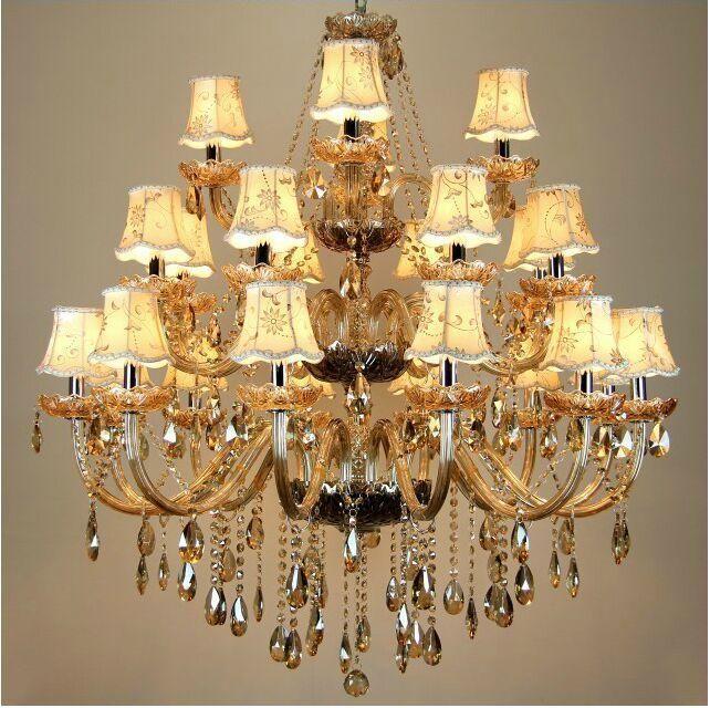 Freies Verschiffen Großer Kristallleuchter 24 Arme  Luxuxkristalllichtleuchter Art Und Weiseleuchterkristalllicht Moderner  Großer Kronleuchter