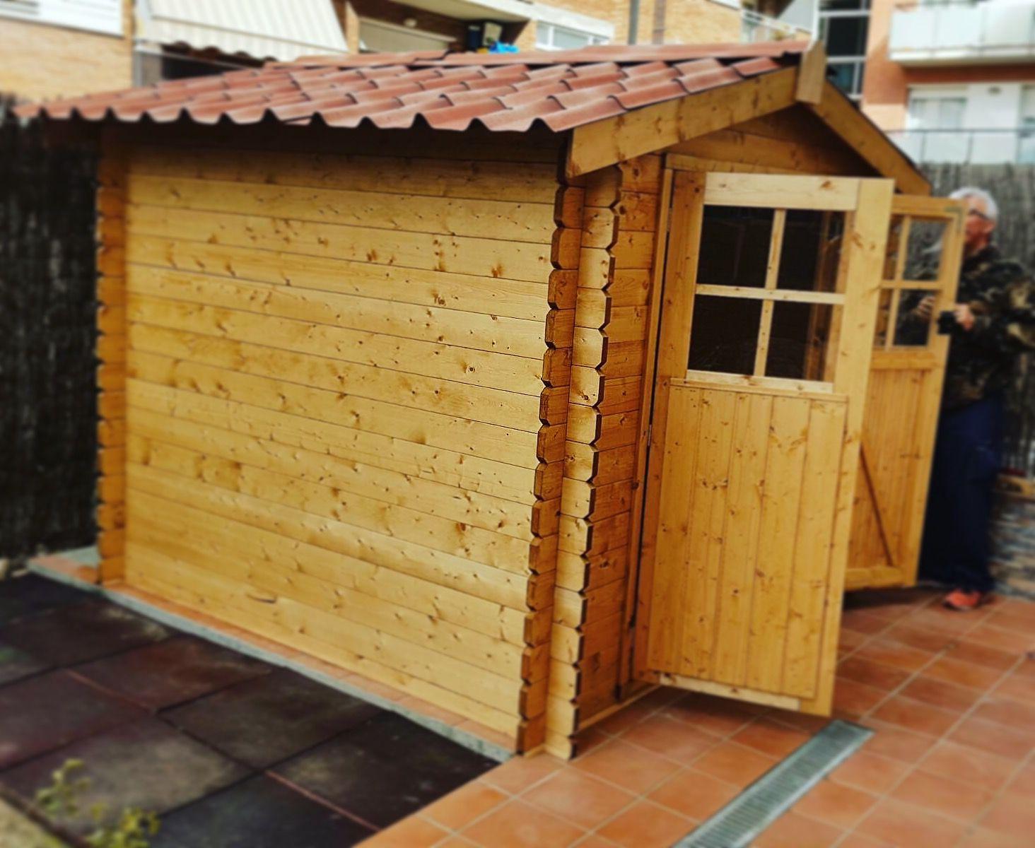 Casetas de madera para terraza awesome casas para perro for Caseta aluminio jardin