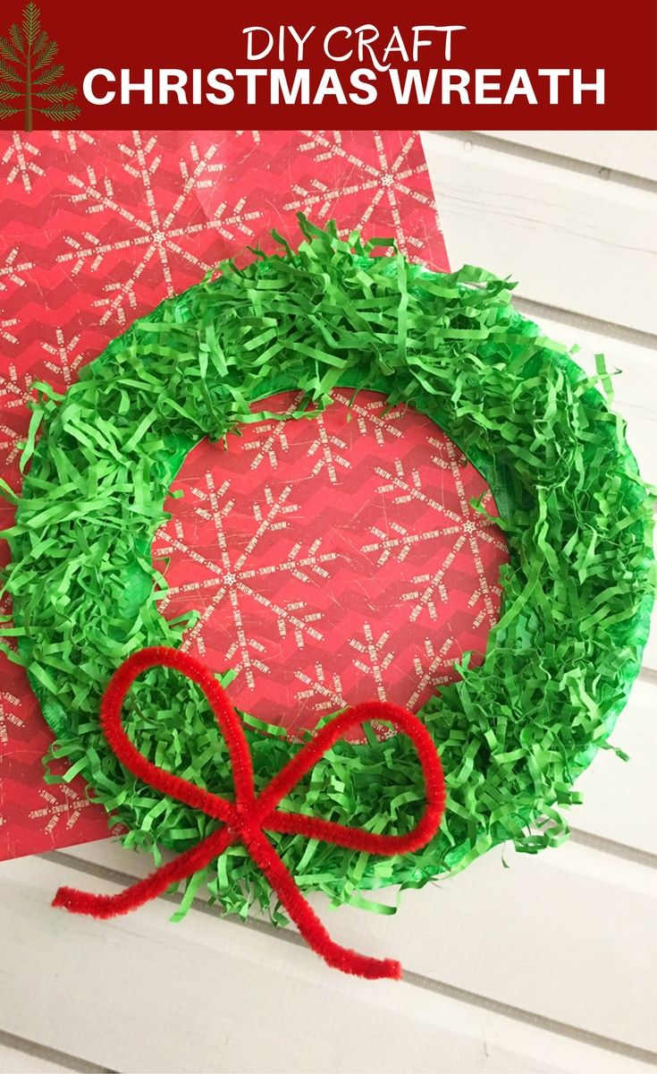 Diy Paper Christmas Wreath Onion Rings And Things Crafts