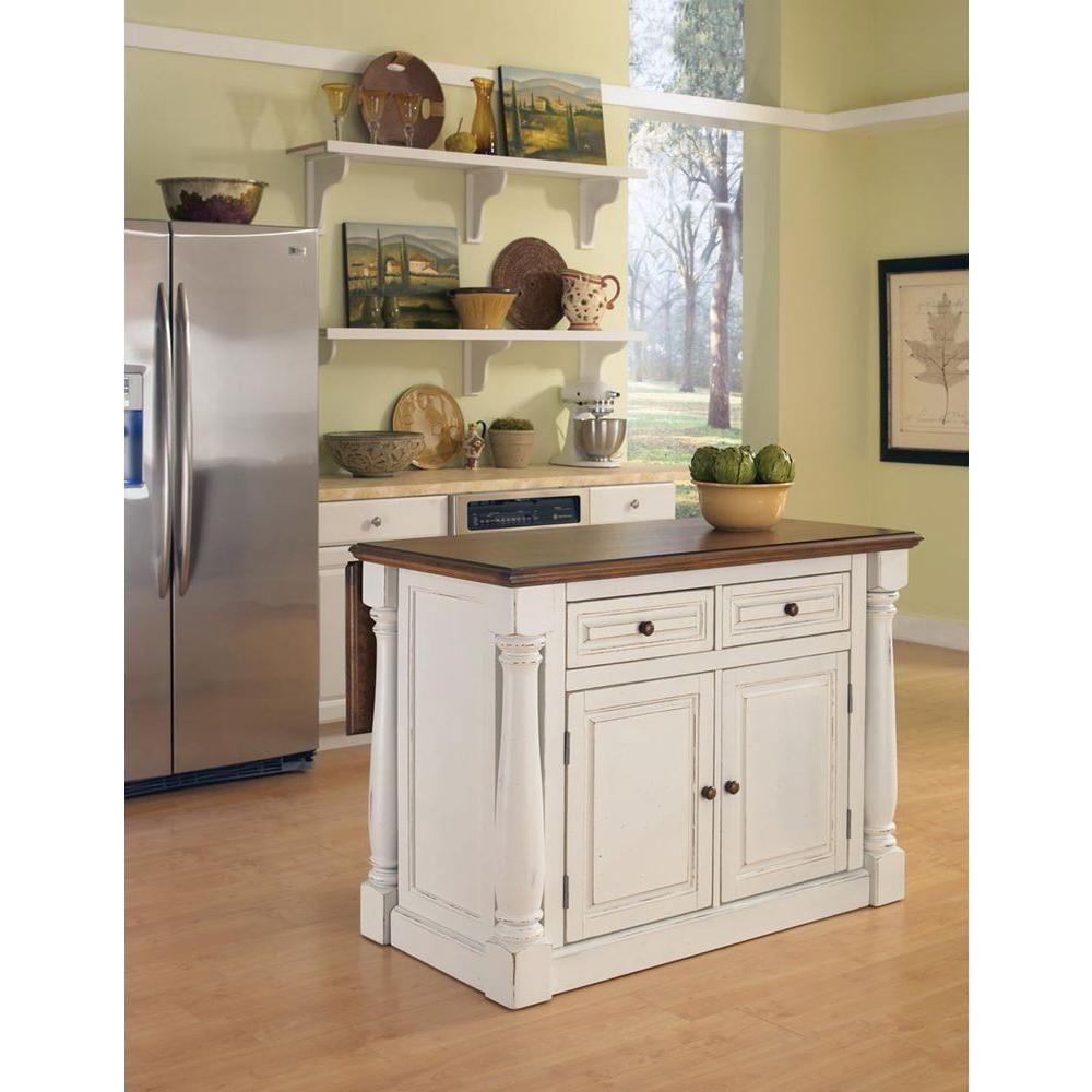 Homestyles Monarch White Kitchen Island With Drop Leaf 5020 94 Antique White Kitchen Stools For Kitchen Island White Kitchen Island