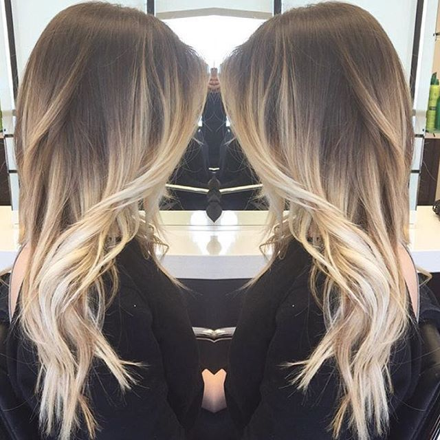 Silvery Blonde Ombre Black Roots Blonde Hair Hair Styles Hair