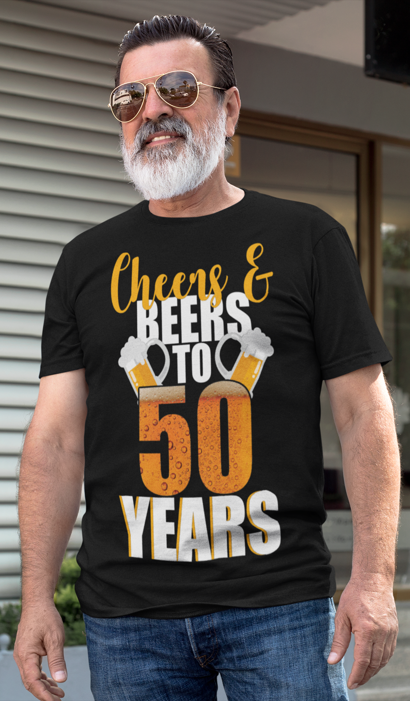 a92aa096a95bc 50th Birthday Cheers & Beers To 50 Years T-Shirt in 2019 | 50th ...