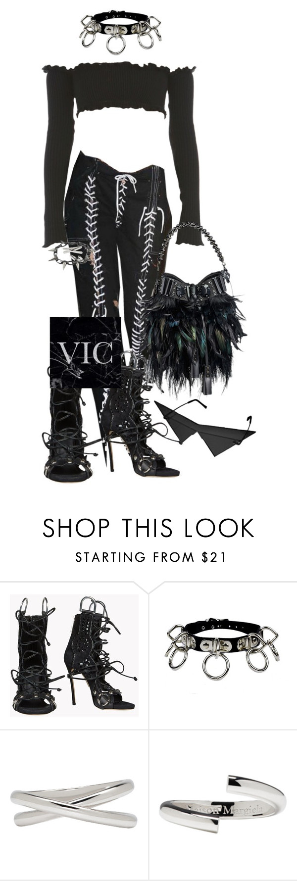 """Untitled #206"" by victoriaburton1 ❤ liked on Polyvore featuring Dsquared2, Louis Vuitton, Maison Margiela and Joomi Lim"