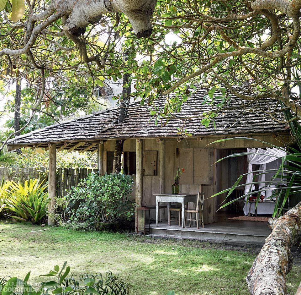 Cabana de 45 m abriga uma su te de sonho brazil cabin - Modelos de casas de campo pequenas ...