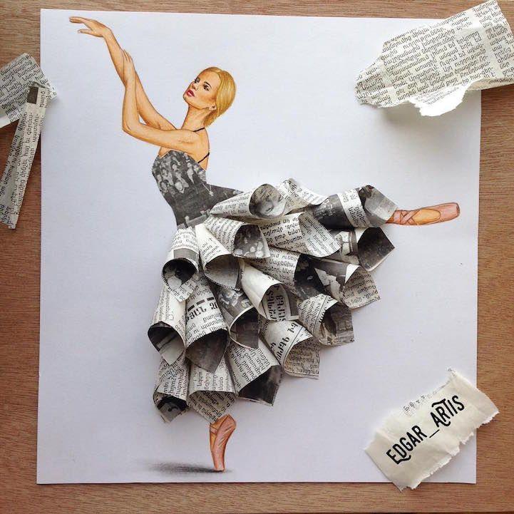 De nouveaux dessins de mode avec des objets par edgar - Idee tableau creatif ...