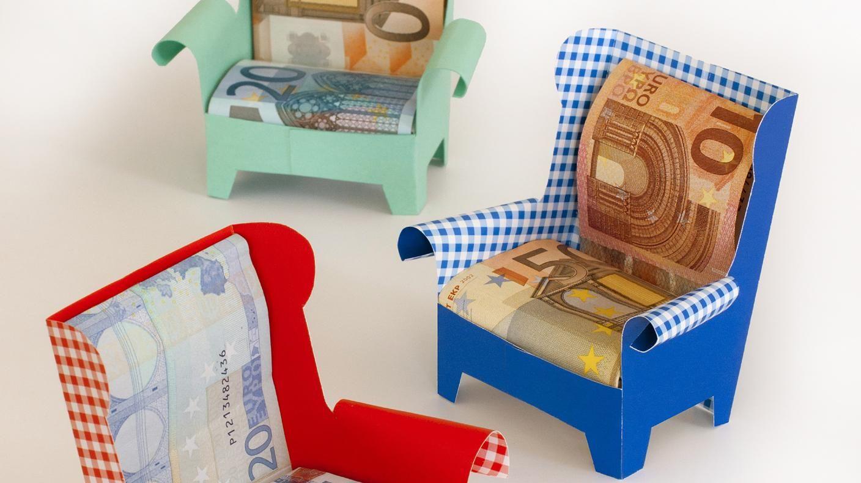 geldsessel kleine geschenke geldgeschenke verpackung. Black Bedroom Furniture Sets. Home Design Ideas