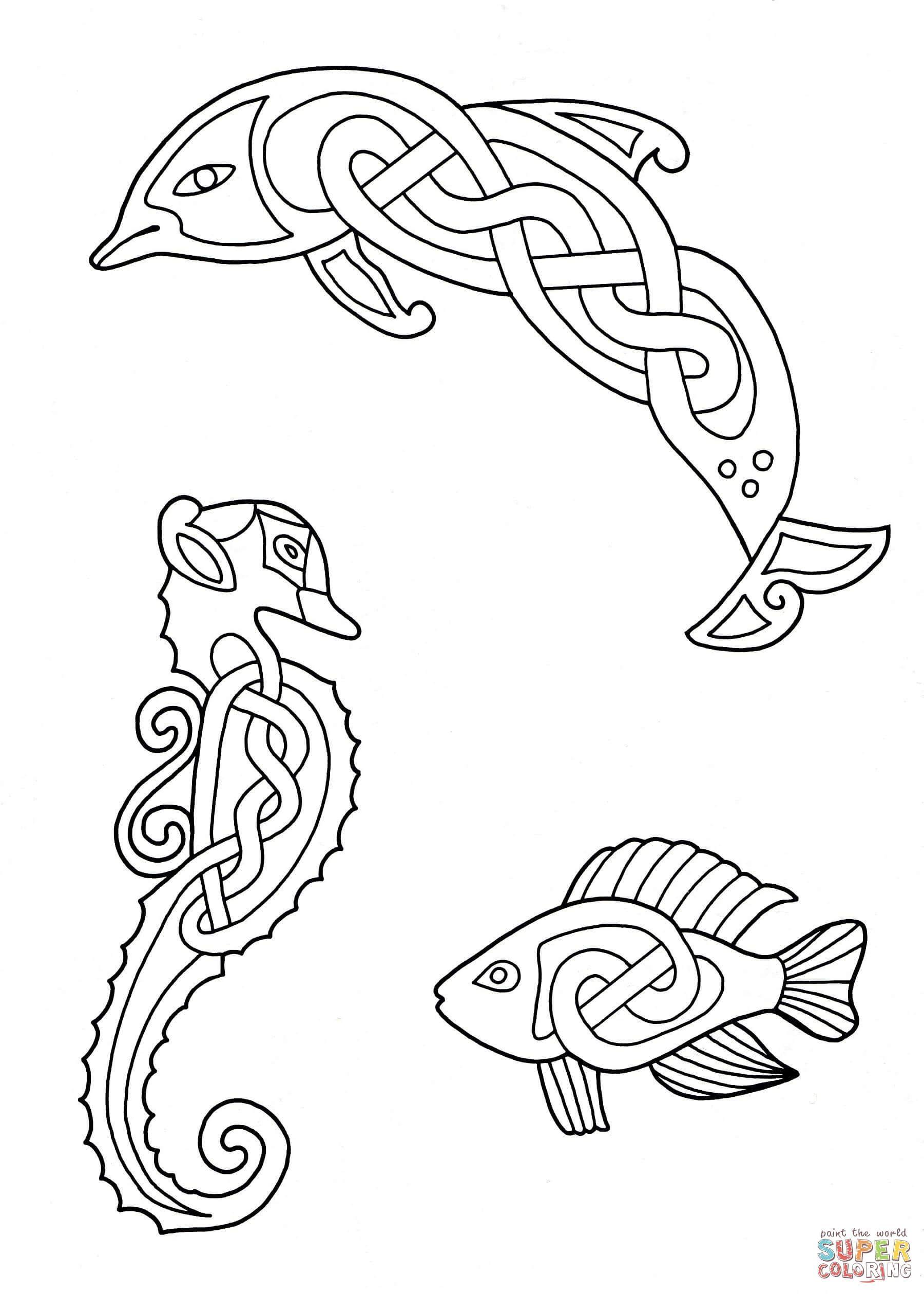 Más Animales, diseño celta | Super Coloring | Tatto | Pinterest ...