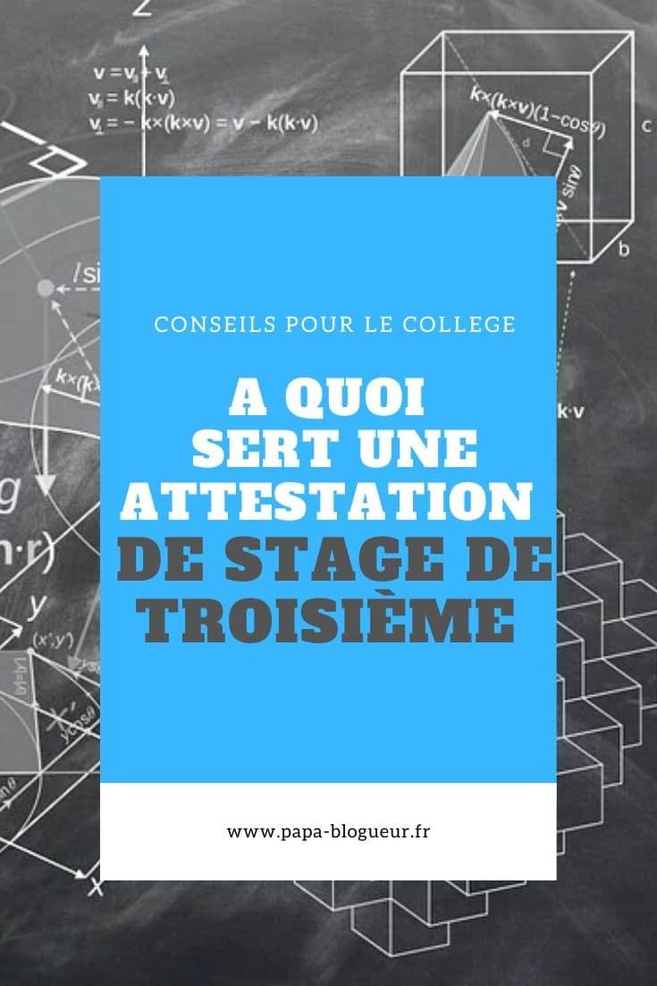 L'attestation de stage de 3eme en 2020 Stage, Conseils