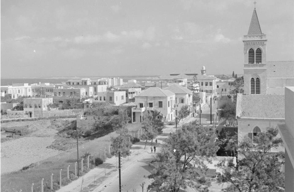 The city Lattakia in 1950s.