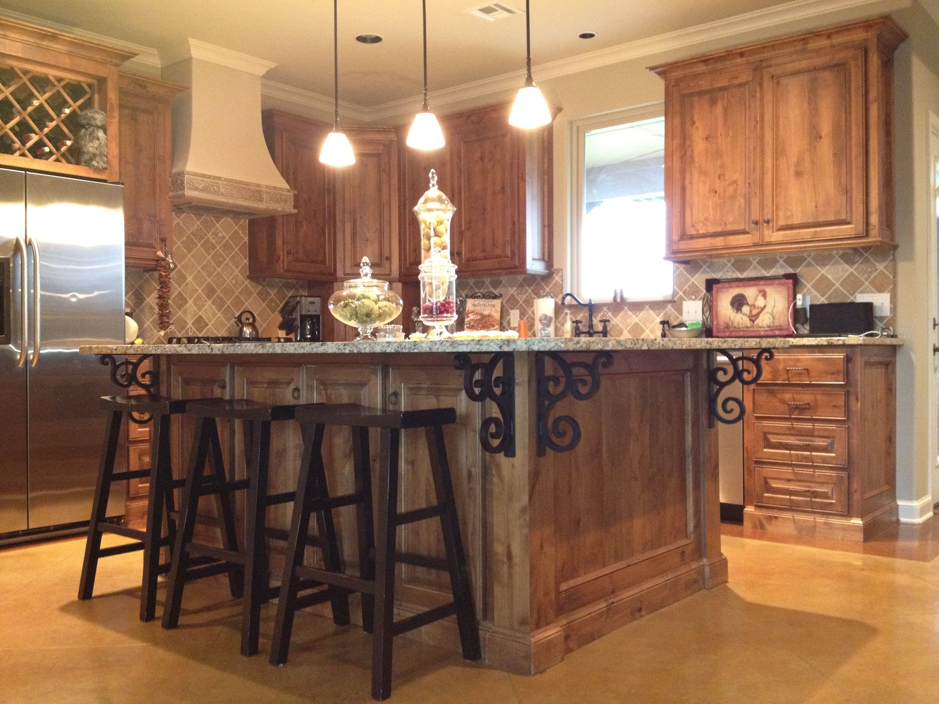Granite Kitchen Island Isabelle Corbels Mounted Under Granite Kitchen Island Kitchen Great