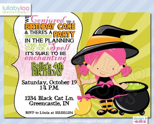 17 Best images about Halloween Birthday Party Invitations on ...