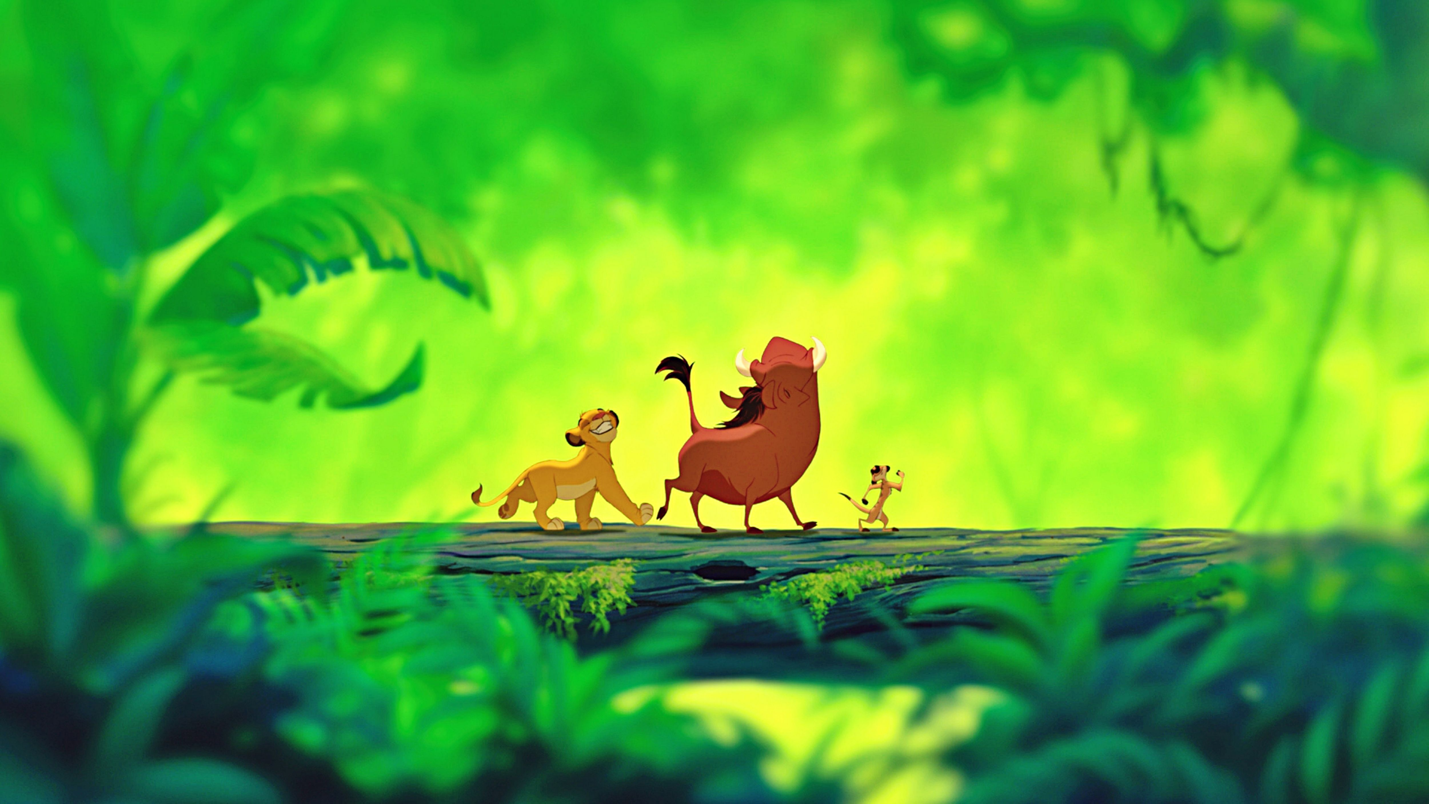 Walt Disney Screencapture of Simba, Pumbaa and Timon from ...
