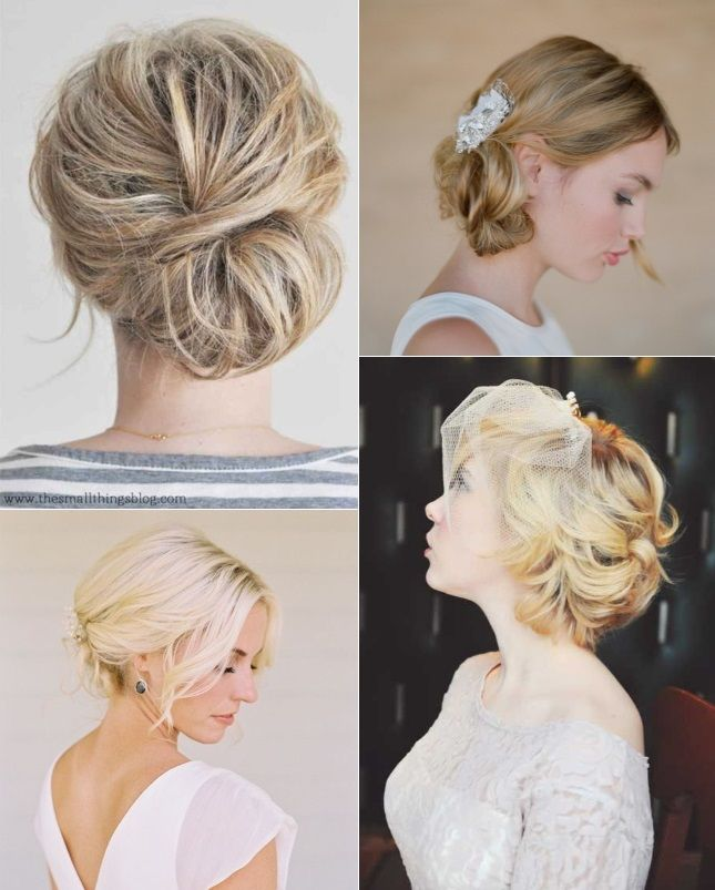 Wedding hair updos for brides with short hair | wedding makeup/hair ...