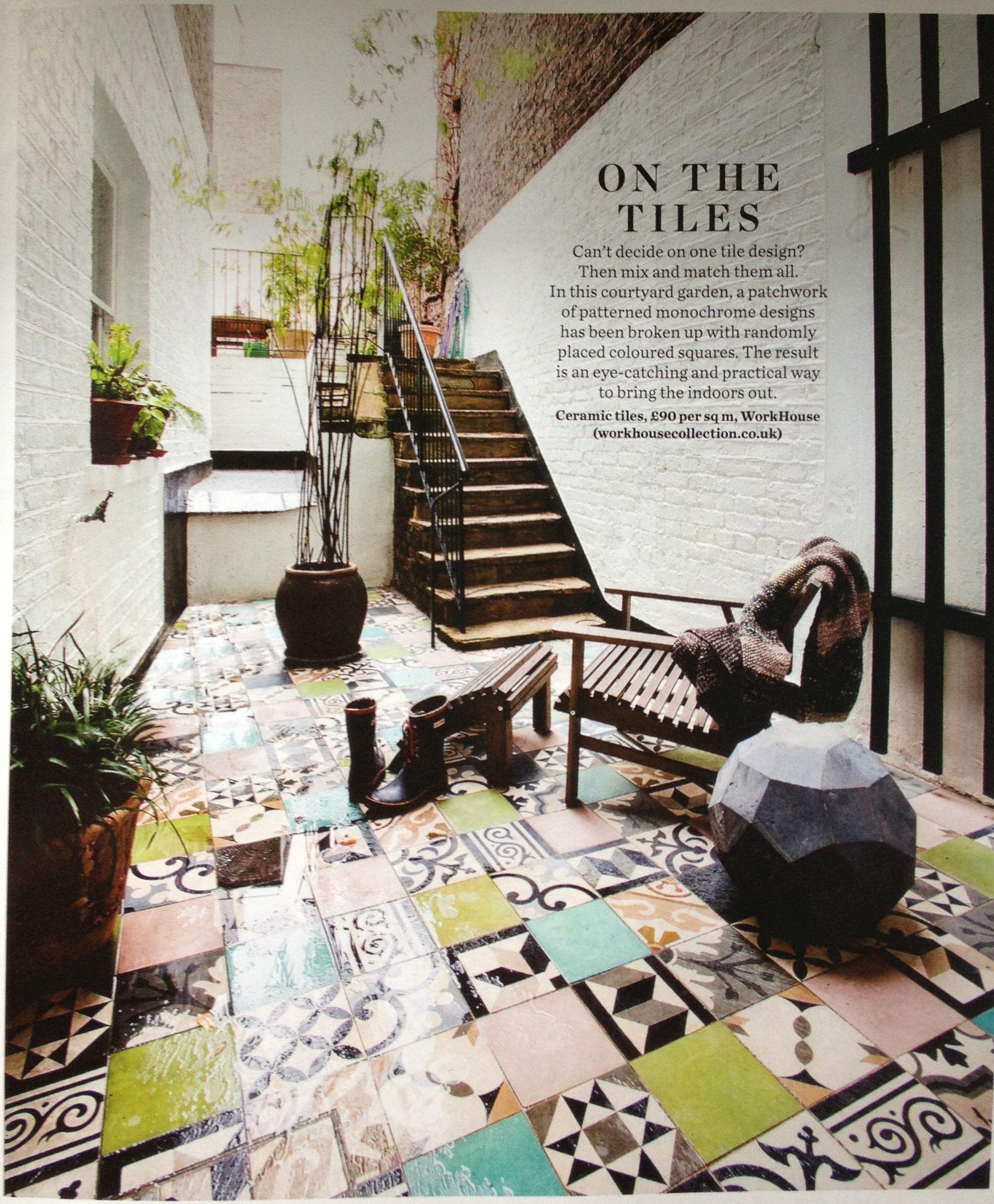 elle decoration magazine. no253. september 2013. workhouse ceramic