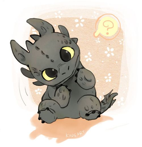 Here We Have Toothless From How To Train Your Dragon Chibi Anime Wallpaperfrom A