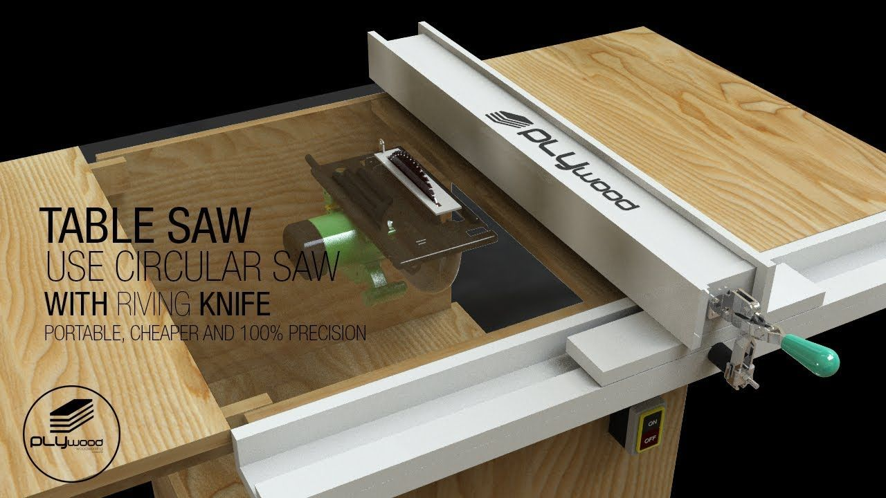 Diy Table Saw Portable How To Make A Homemade Table Saw With
