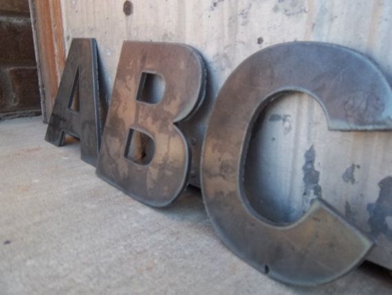 6 Metal Letters Could Think Of So Many Things To Do With These Large Metal Letters Metal Letters Metal Wall Letters