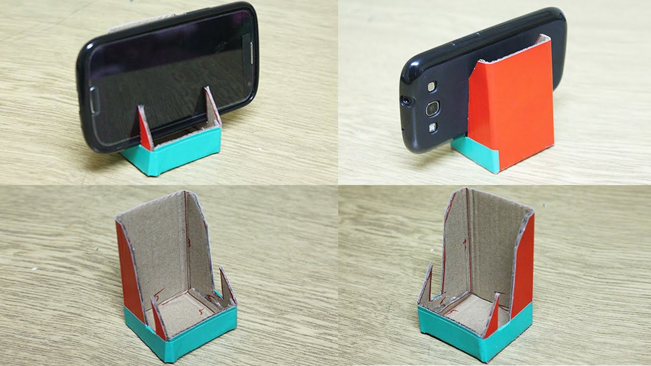 5 diy phone stand you can make easy by yourself phone for How to build a stand