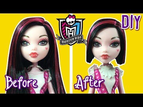 Diy How To Cut Draculaura Hair Doll Bob Haircut Monster High