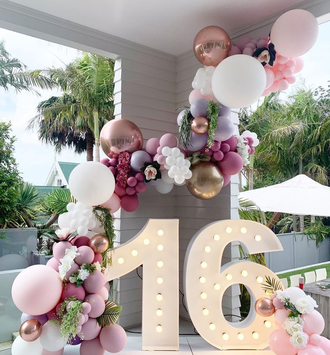 Balloonz On Instagram Luxury Romance Why Just Settle For A Standard Ballo Light Pink Birthday Party 21st Birthday Decorations Sweet 16 Party Decorations