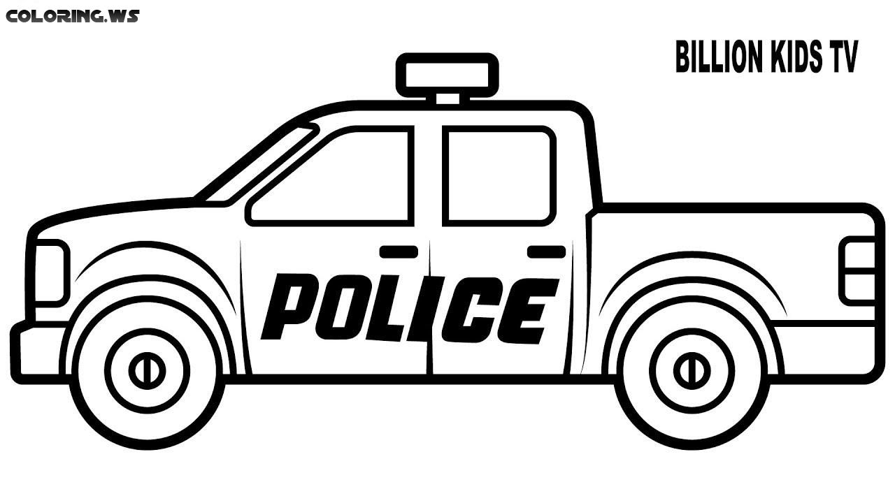 Basic Police Truck Coloring Page Truck Coloring Pages American